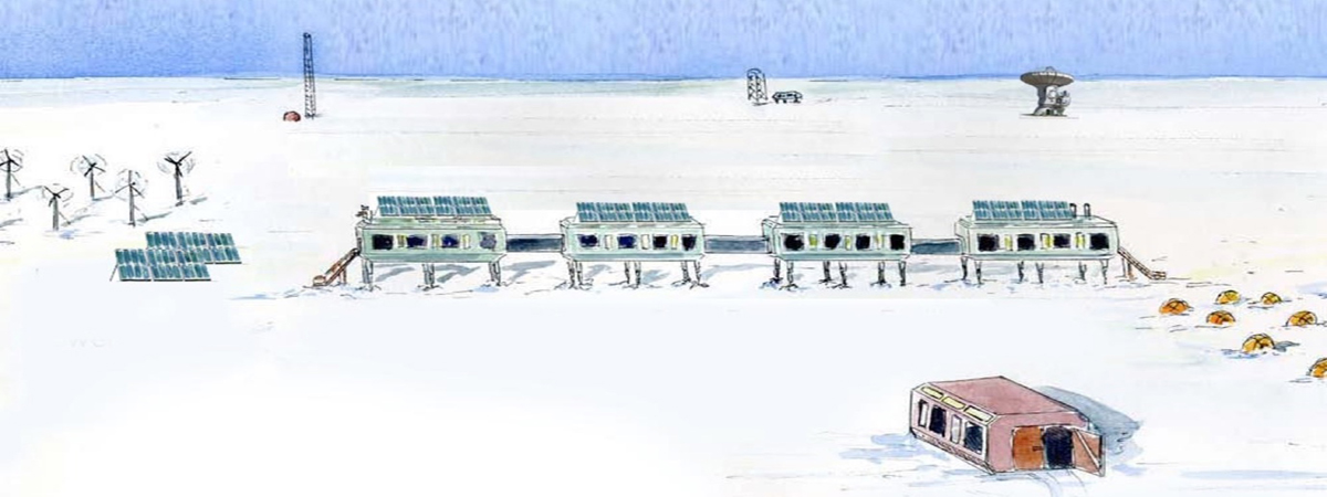 Artist's conception of a future Summit Station Greenland